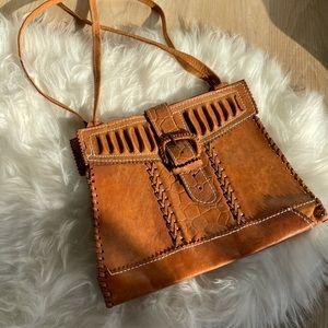 Vintage Handmade Leather Shoulder Bag